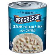 Progresso Traditional Creamy Potato & Ham with Chives Soup