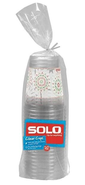 Solo Holiday Plastic Cups 18 Oz.