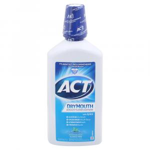 ACT Dry Mouth Anticavity Fluoride Mouthwash Soothing Mint