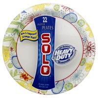 "Solo 10"" Heavy Duty Paper Plates"