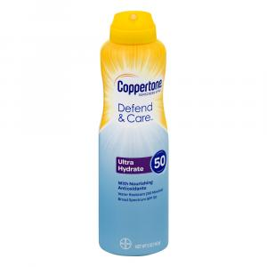 Coppertone Defend & Care Ultra Hydrate Sunscreen Spray 50
