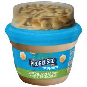 Progresso Toppers Broccoli Cheese Soup with Oyster Crackers