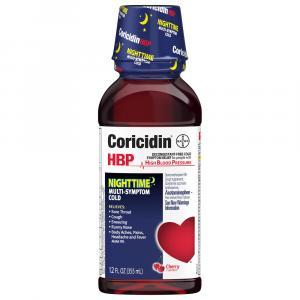 Coricidin HBP Nighttime Multi-Symptom Cold Cherry Flavored