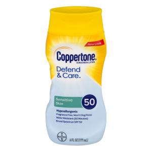 Coppertone Defend & Care Sensitive Skin Sunscreen Lotion