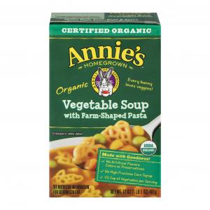 Annie's Organic Vegetable Soup With Farm-shaped Pasta