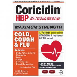 Coricidin HBP Max Cold & Flu