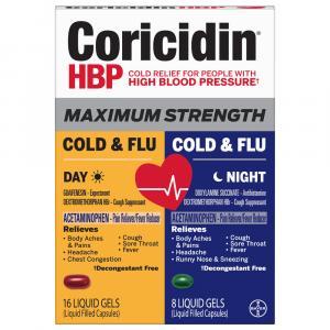 Coricidin HBP Max Day Night Cold & Flu