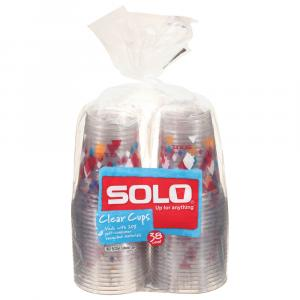 Solo 18 Oz. Clear Cups with Prints
