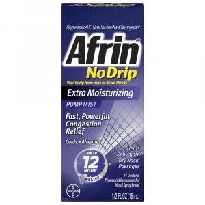 Afrin No Drip Extra Moisturizing Pump Mist 12 Hour Relief