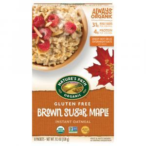 Nature's Path Organic Gluten Free Brown Sugar Maple Oatmeal