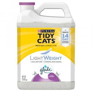 Tidy Cat LightWeight Glade Tough Odor Solution Clean Blossom