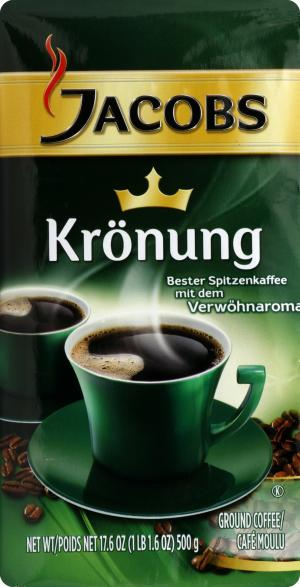 Jacobs Kronung Verwohn Aroma Ground Coffee Cafe Moulu