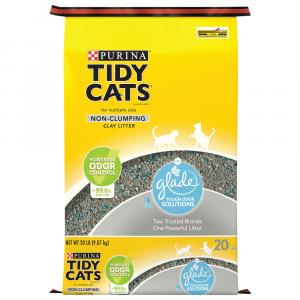 Tidy Cats Non-Clumping Clay Litter with Glade