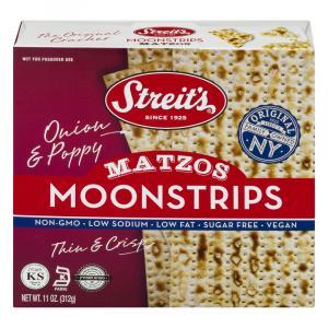 Streit's Onion & Poppy Moonstrips Matzos