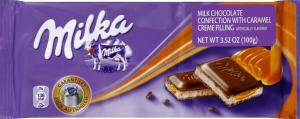 Milka Caramel Milk Chocolate with Caramel Filling