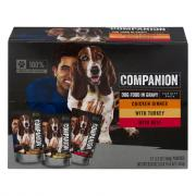 Companion Dog Food with Beef,Chicken, and Turkey in Gravy