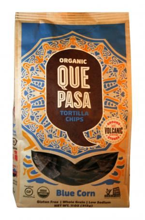 Que Pasa Organic Blue Corn Tortilla Chips