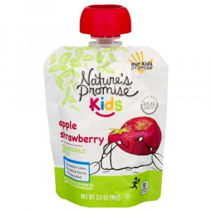 Nature's Promise Kids Apple Strawberry Squeezable Fruit