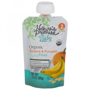 Nature's Promise Organic Banana & Pumpkin Baby Food