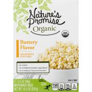 Nature's Promise Organic Butter Microwave Popcorn