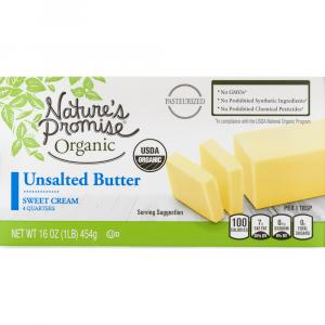 Nature's Promise Organic UnSalted Butter