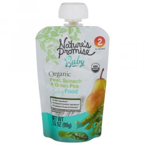 Nature's Promise Organic Pear, Spinach & Green Pea Baby Food