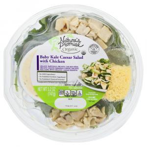 Nature's Promise Organic Baby Kale Chicken Caesar Salad