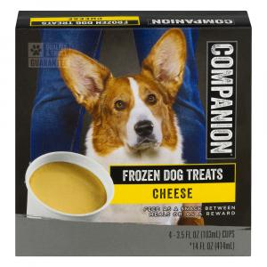 Companion Frozen Dog Treats Cheese