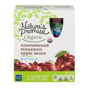 Nature's Promise Kids Unsweetened Cinnamon Applesauce