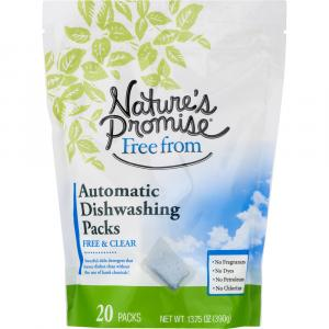 Nature's Promise Automatic Free & Clear Dishwashing Packs