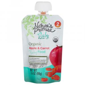 Nature's Promise Organic Apple & Carrot Baby Food