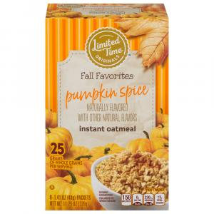 Limited Time Originals Pumpkin Spice Instant Oatmeal