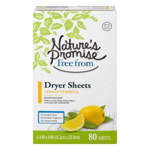 Nature's Promise Dryer Sheets Lemon Vernena