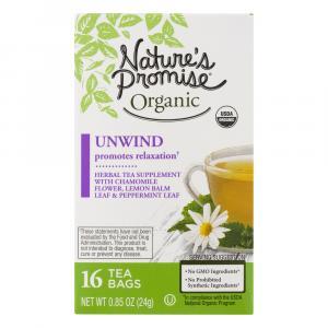 Nature's Promise Organic Unwind Herbal Tea Supplement