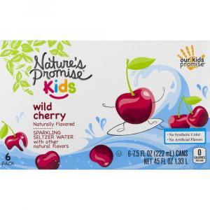 Nature's Promise Kids Wild Cherry Sparkling Seltzer Water