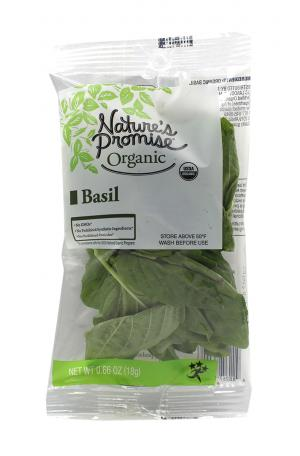 Nature's Promise Organic Basil Package
