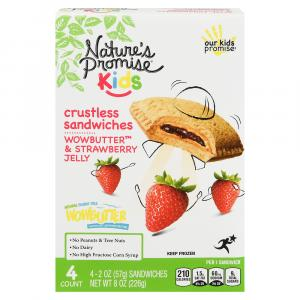 Nature's Promise Wowbutter & Strawberry Crustless Sandwiches
