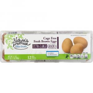 """Nature's Promise Cage Free Extra Large Brown """"Grade A"""" Eggs"""