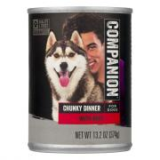 Companion Beef Chunks Dog Food