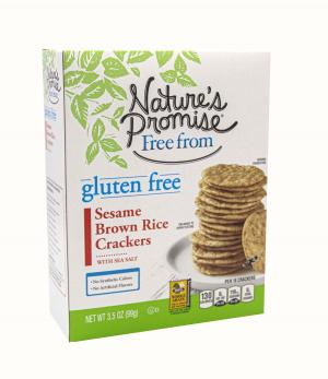 Nature's Promise Gluten Free Sesame Brown Rice Crackers