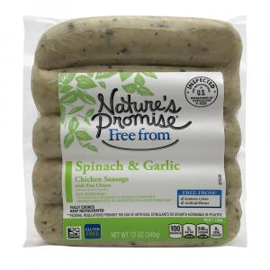 Nature's Promise Spinach & Garlic Chicken Sausage