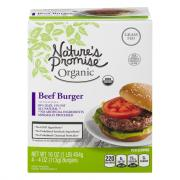 Frozen Nature's Promise Organic Grass Fed 85% Beef Burger