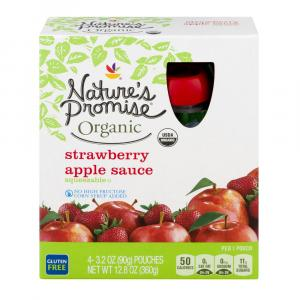 Nature's Promise Kids Organic Strawberry Applesauce