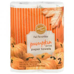 Limited Time Originals Pumpkin Prints Paper Towel