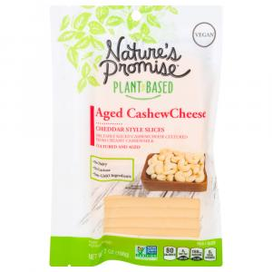 Nature's Promise Aged Cashew Cheese Cheddar Style Slices