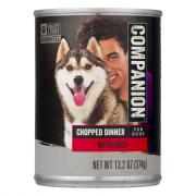Companion Chopped Beef Dog Food