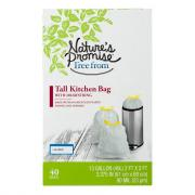 Nature's Promise 13-Gallon Recycle Tall Kitchen w/Drawstring