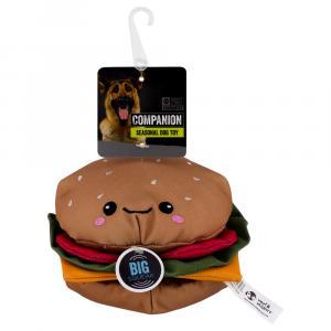 Companion Burger Plush Dog Toy