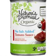 Nature's Promise Organic No Salt Added Tomato Sauce