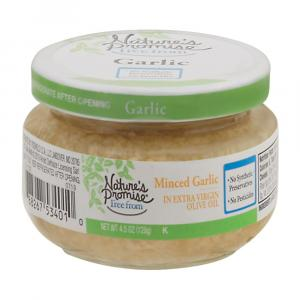 Nature's Promise Minced Garlic in Extra Virgin Olive Oil
